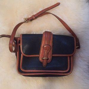 Navy and brown vintage Dooney and Bourke bag